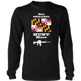 Eat Organic - Hunt More | Maryland State Flag T-Shirt with AR15