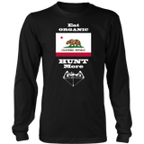 Eat Organic - Hunt More | California State Flag T-Shirt with Bow