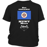 Eat Organic - Hunt More | Minnesota State Flag T-Shirt with Bow