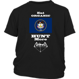 Eat Organic - Hunt More | Utah State Flag T-Shirt with Bow