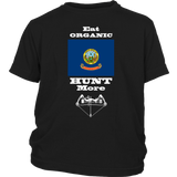 Eat Organic - Hunt More | Idaho State Flag T-Shirt with Bow