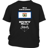 Eat Organic - Hunt More | West Virginia State Flag T-Shirt with Bow
