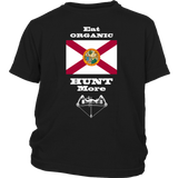 Eat Organic - Hunt More | Florida State Flag T-Shirt with Bow
