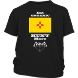 Eat Organic - Hunt More | New Mexico State Flag T-Shirt with Bow