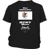 Eat Organic - Hunt More | Illinois State Flag T-Shirt with Bow