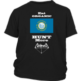 Eat Organic - Hunt More | South Dakota State Flag T-Shirt with Bow