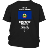 Eat Organic - Hunt More | Vermont State Flag T-Shirt with Bow