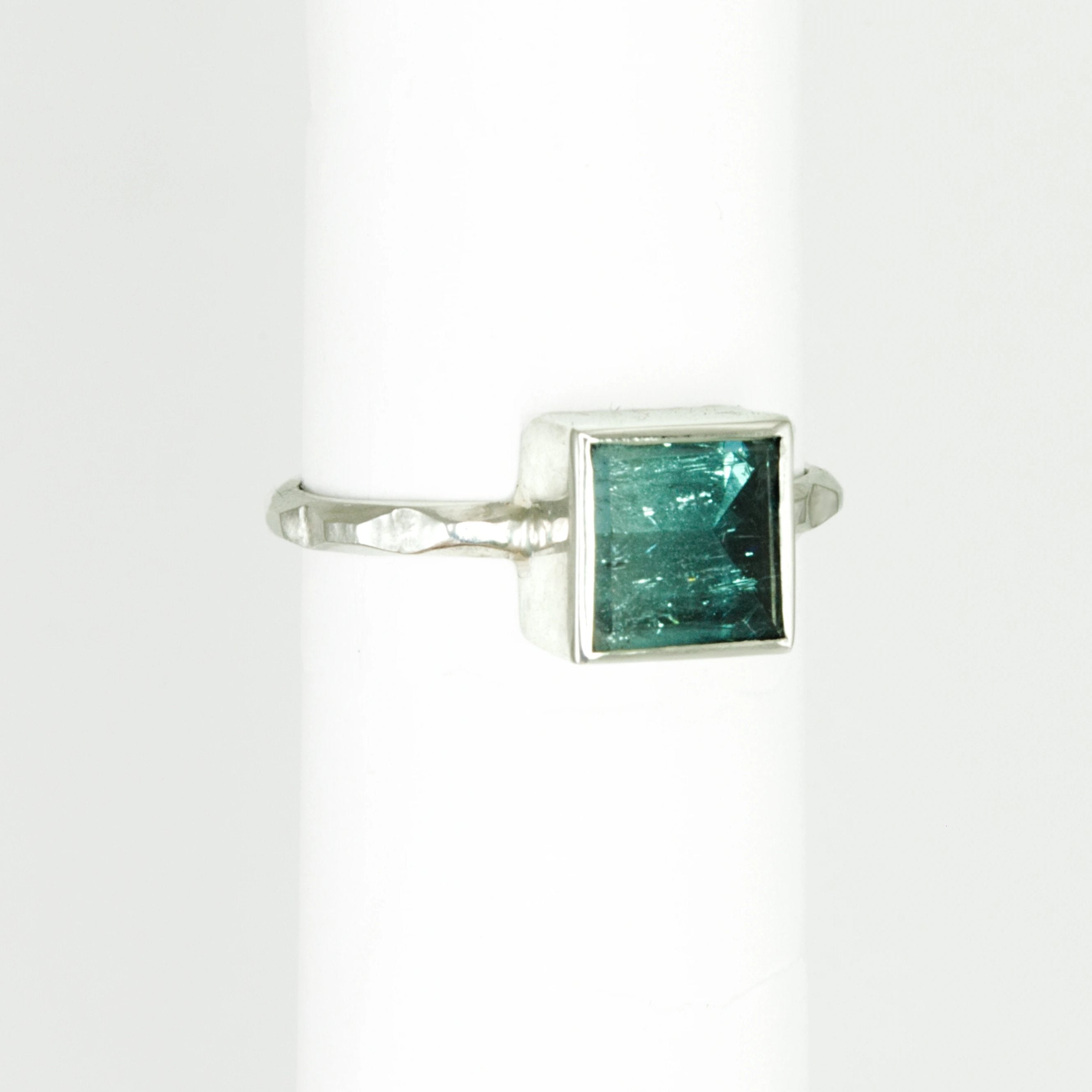 Ombre Blue Tourmaline Frusta Ring - Size 7.5