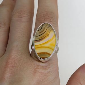 banded agate cocktail ring