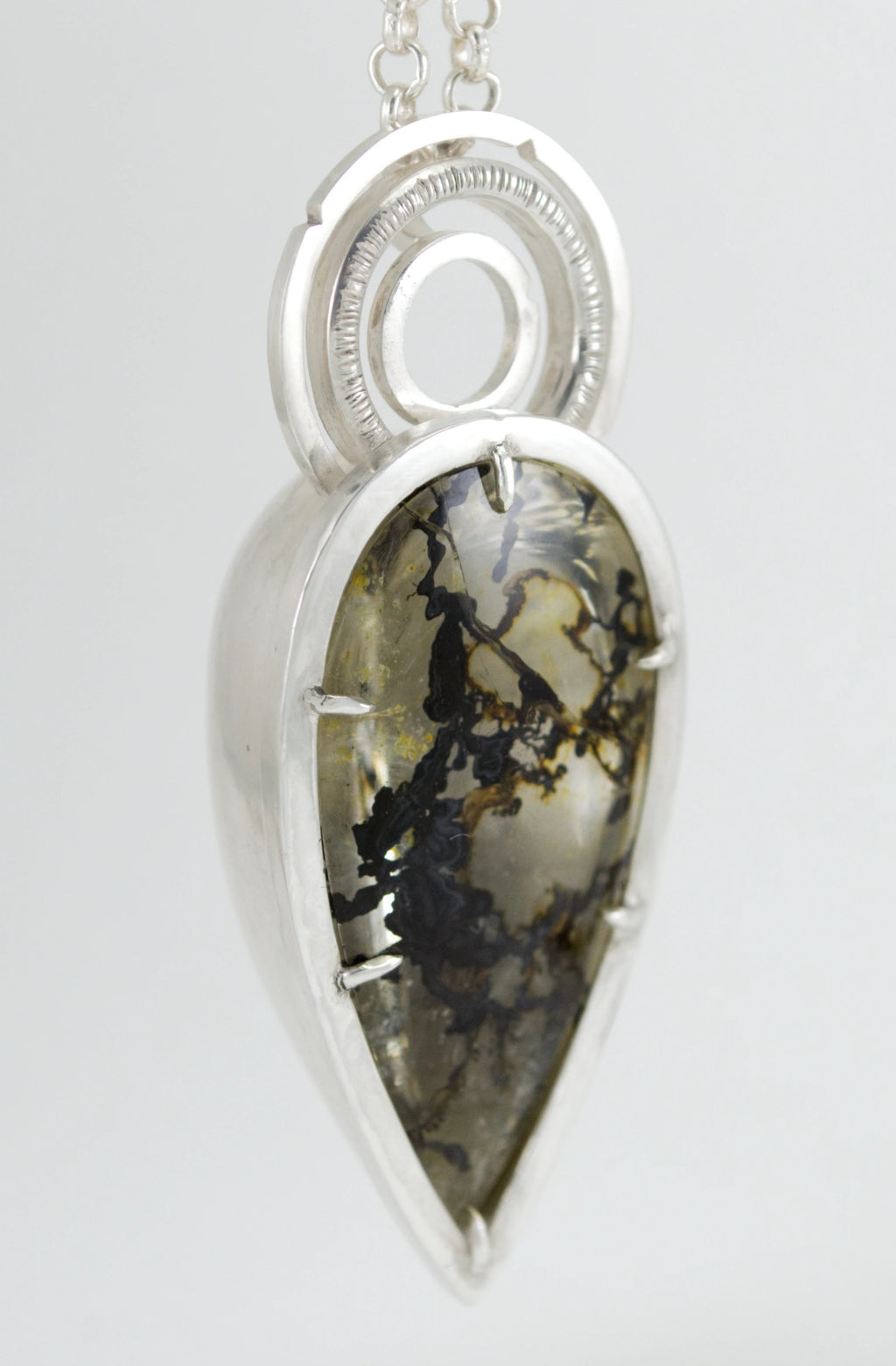 Dendritic Quartz Deco Statement Necklace