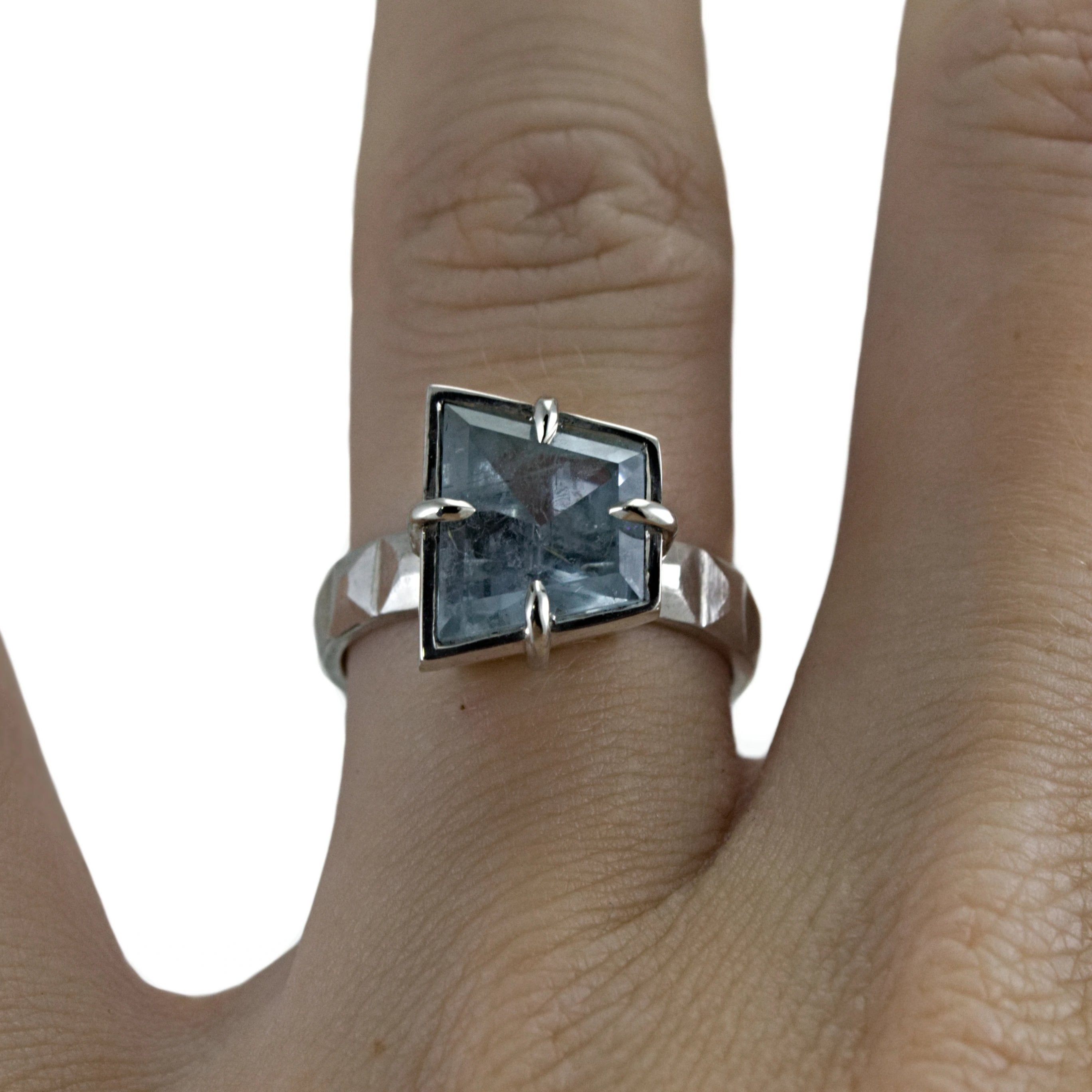 Art Deco Aquamarine Ring