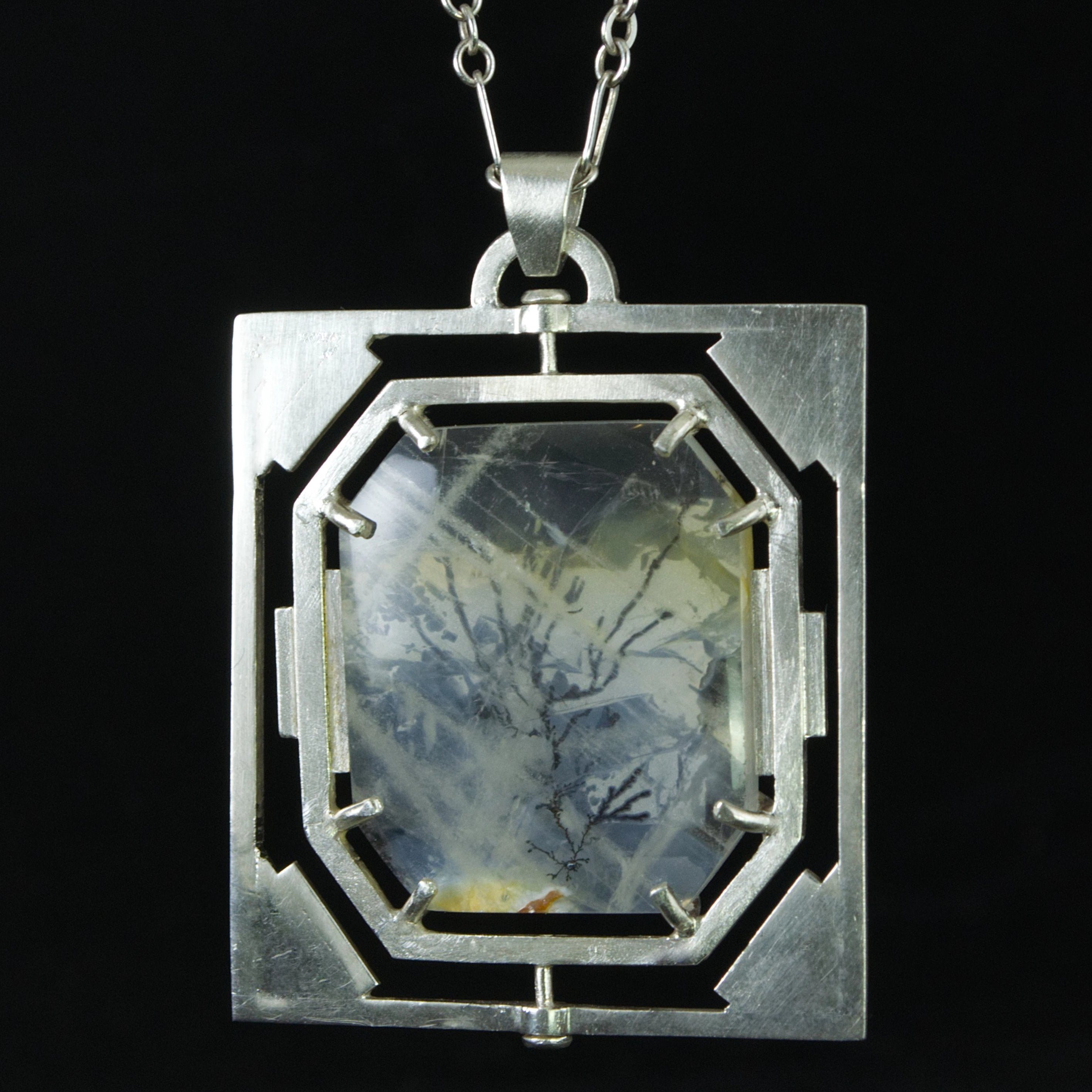 Dendritic Quartz Rotating Pendant
