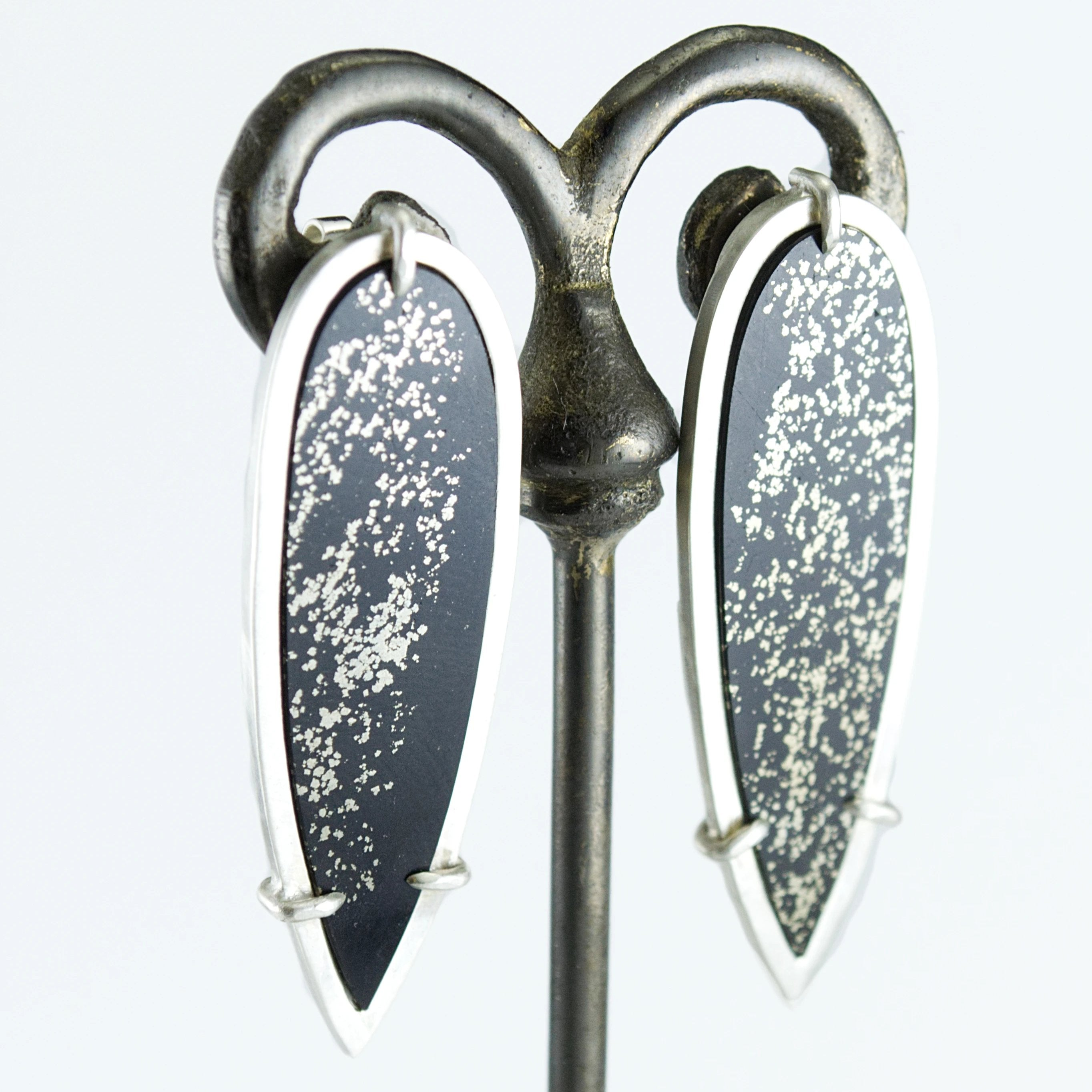 Pyrite in Slate Earrings #2