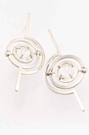 geometric art deco kinetic earrings