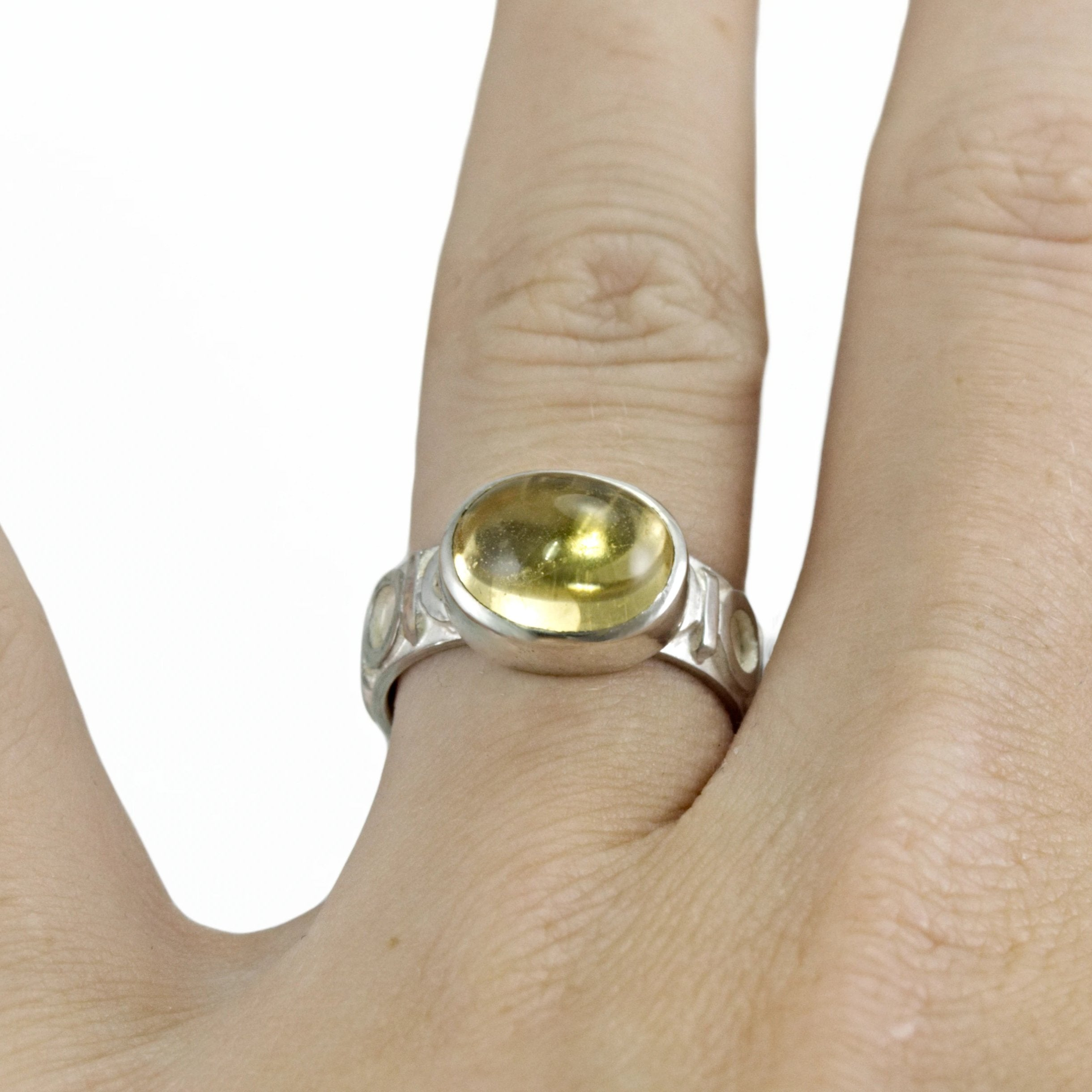 Art Deco Yellow Beryl Ring