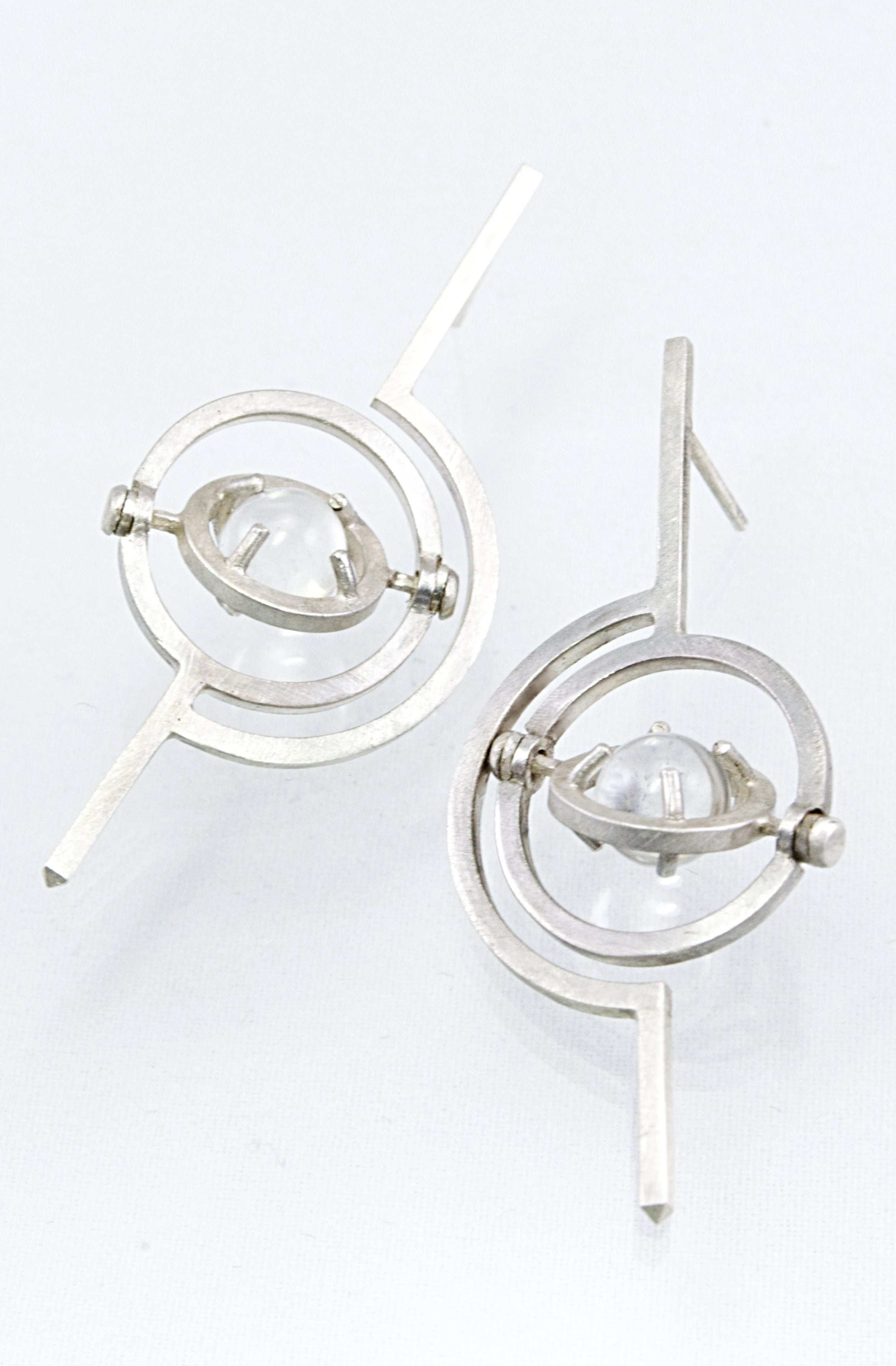 gyroscope kinetic armillary earrings