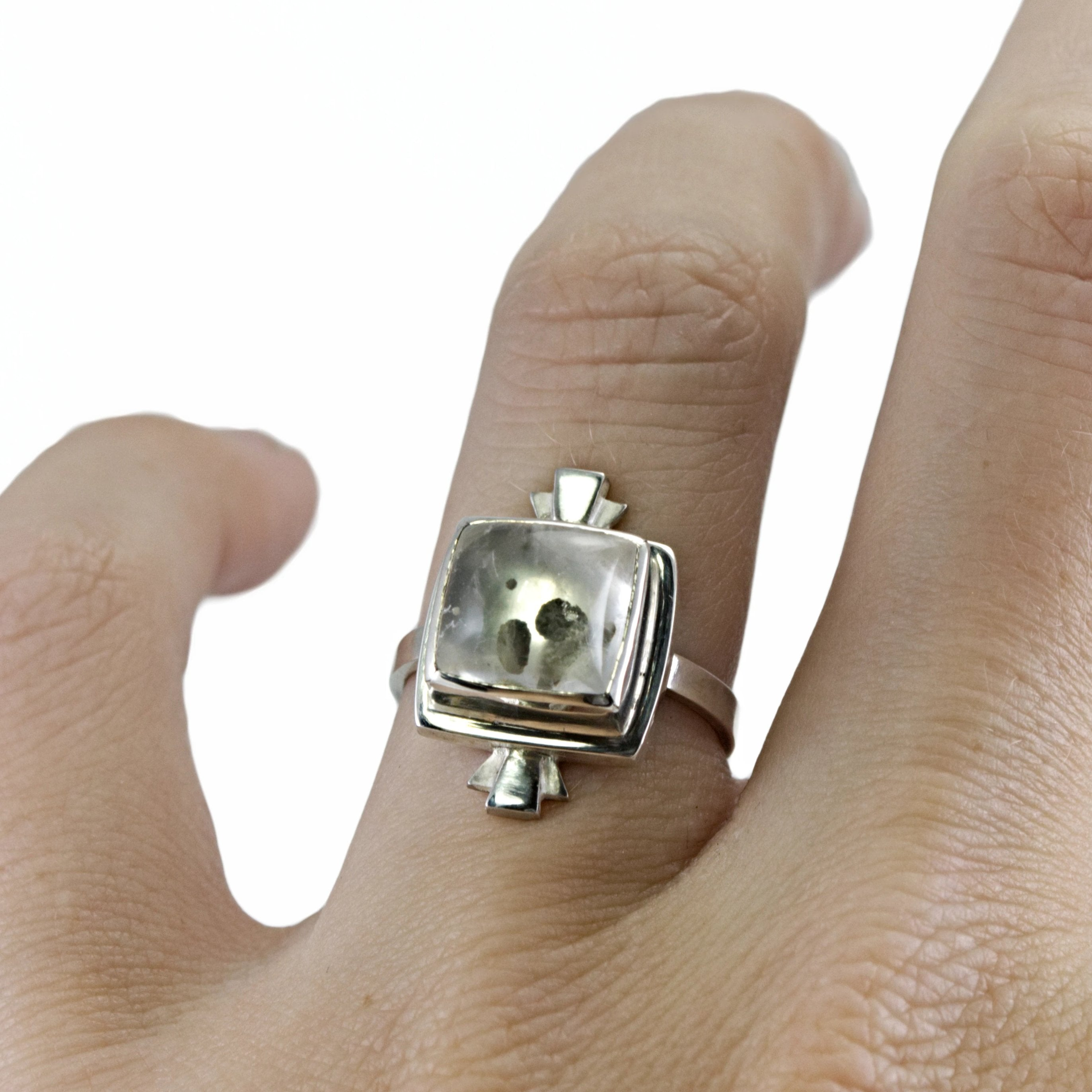 art deco quartz ring