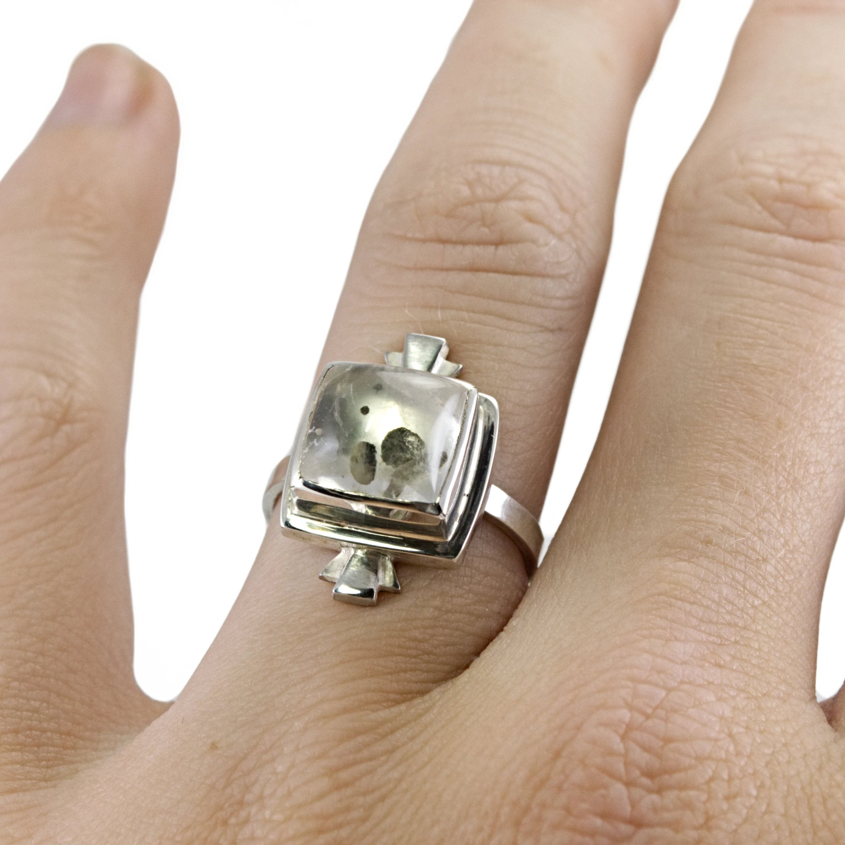 pyrite in quartz ring
