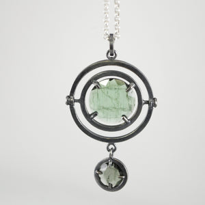 steampunk kinetic tourmaline necklace