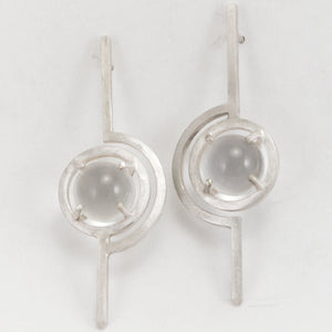 Caged Sphere Lollipop Earrings