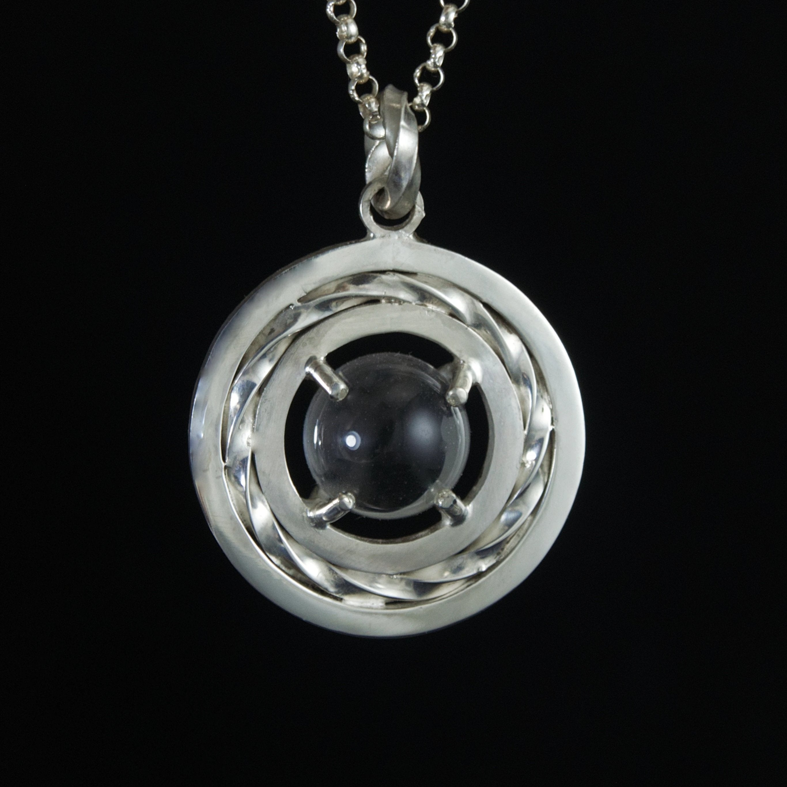sterling love token pools of light pendant