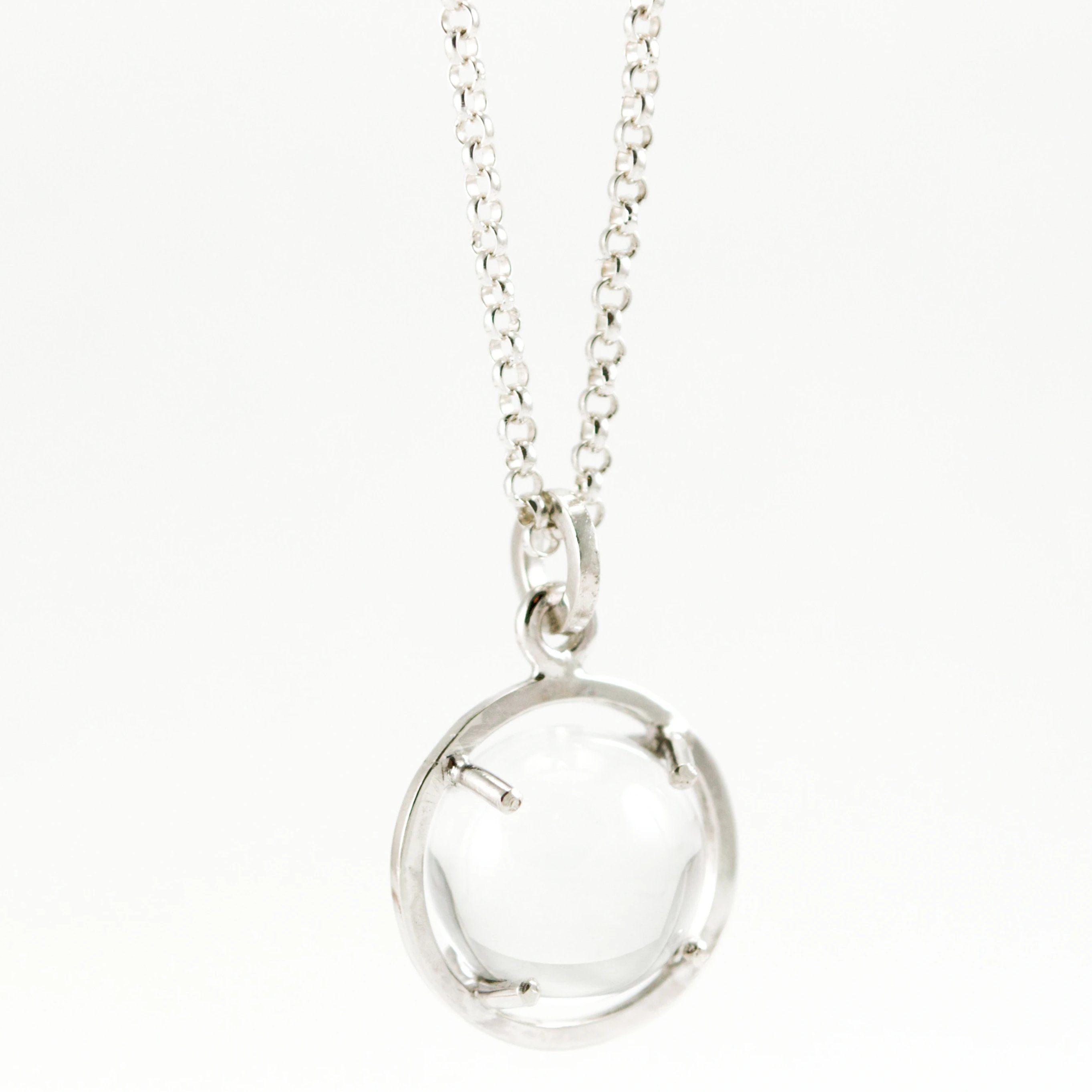 Caged Quartz Sphere Pendant - Large