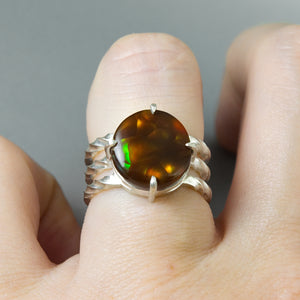 Fire Agate Twist Ring #3