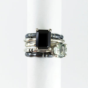 Black Spinel Bone Ring