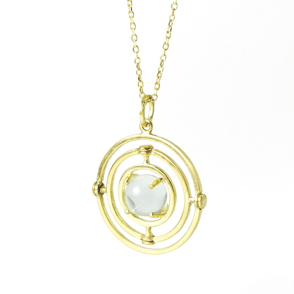 Caged 18k Armillary Necklace