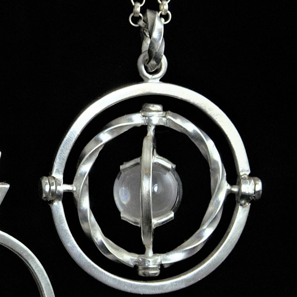 Patterned Quartz Armillary Pendant
