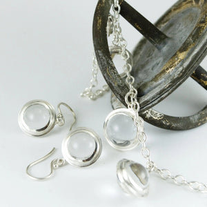Graduated Deco 5-Sphere Necklace