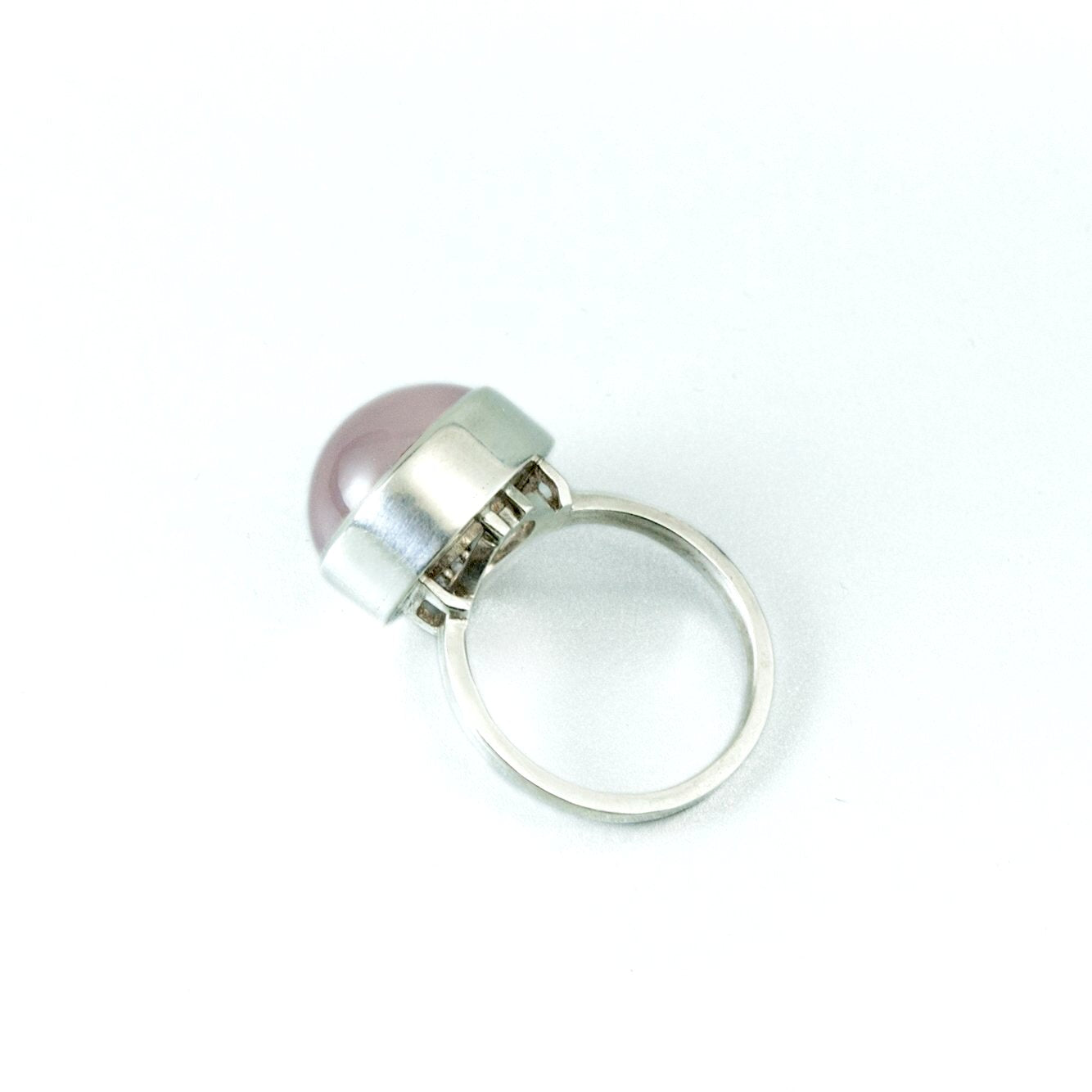 Rose Quartz Platform Ring