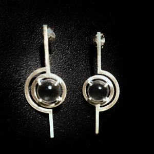 Art Deco Futuristic Stick Earrings