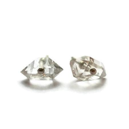Herkimer diamond studs earrings