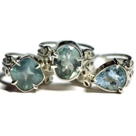 Art Deco Aquamarine Rings