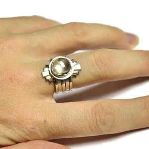 Art Deco stacking ring