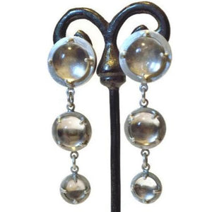 Art Deco Quartz Chandelier Earrings