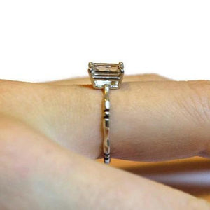 White Topaz Bone Ring