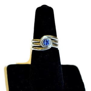 Sapphire Spiral Ring