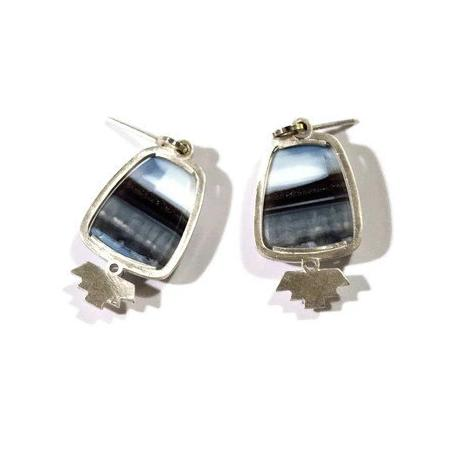 art deco opal earrings