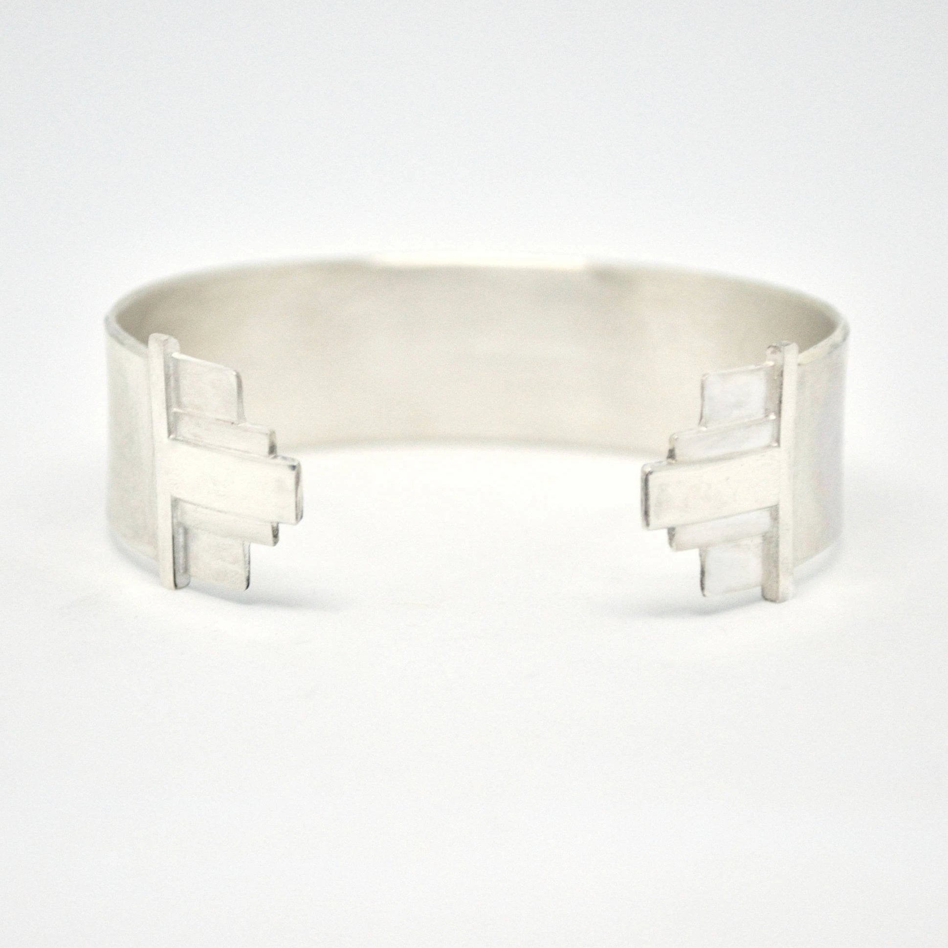 art deco cuff bracelet wide