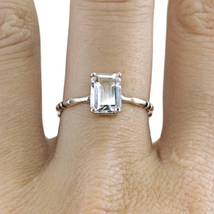 topaz memento mori bone engagement ring