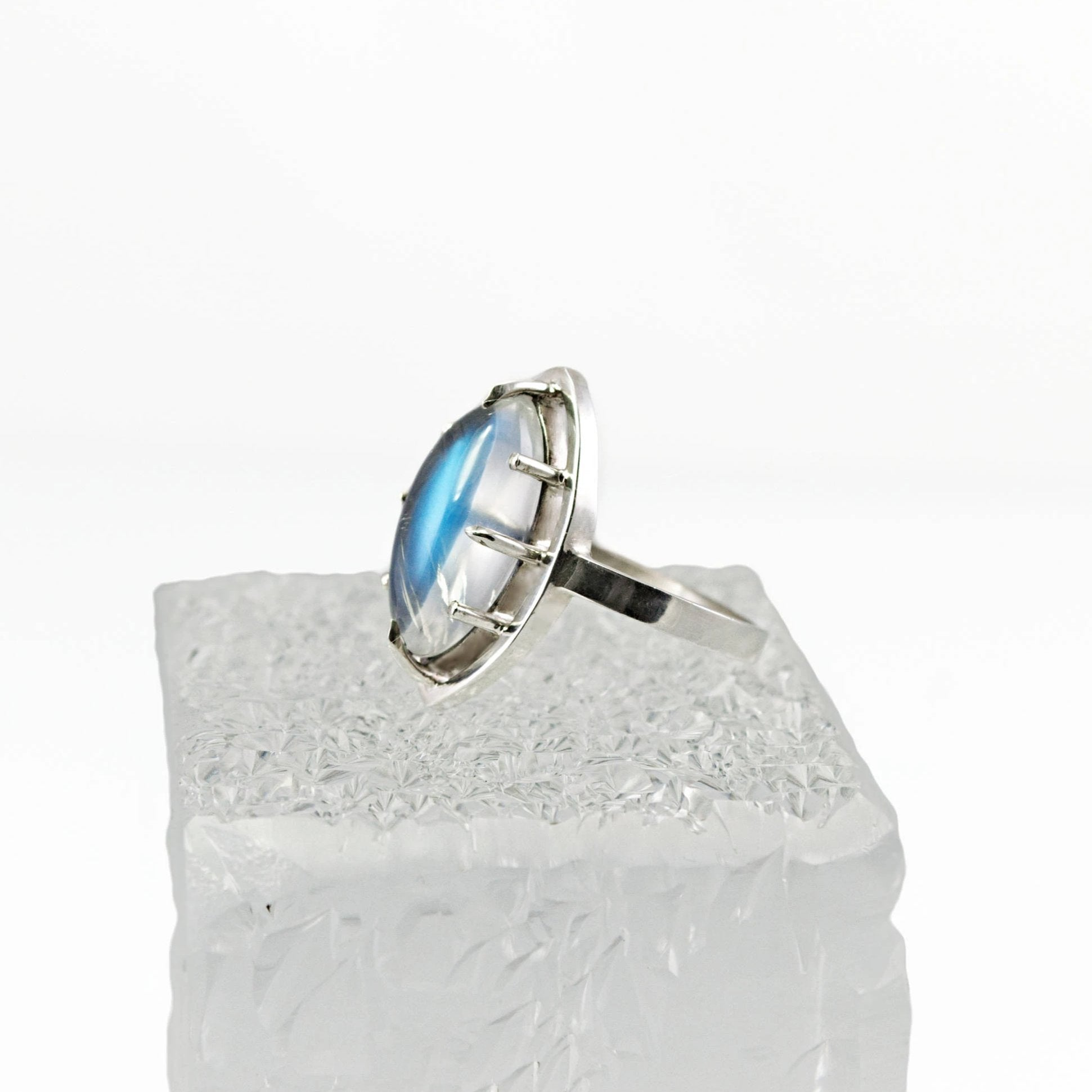 Rainbow Moonstone Ring - Size 5.5