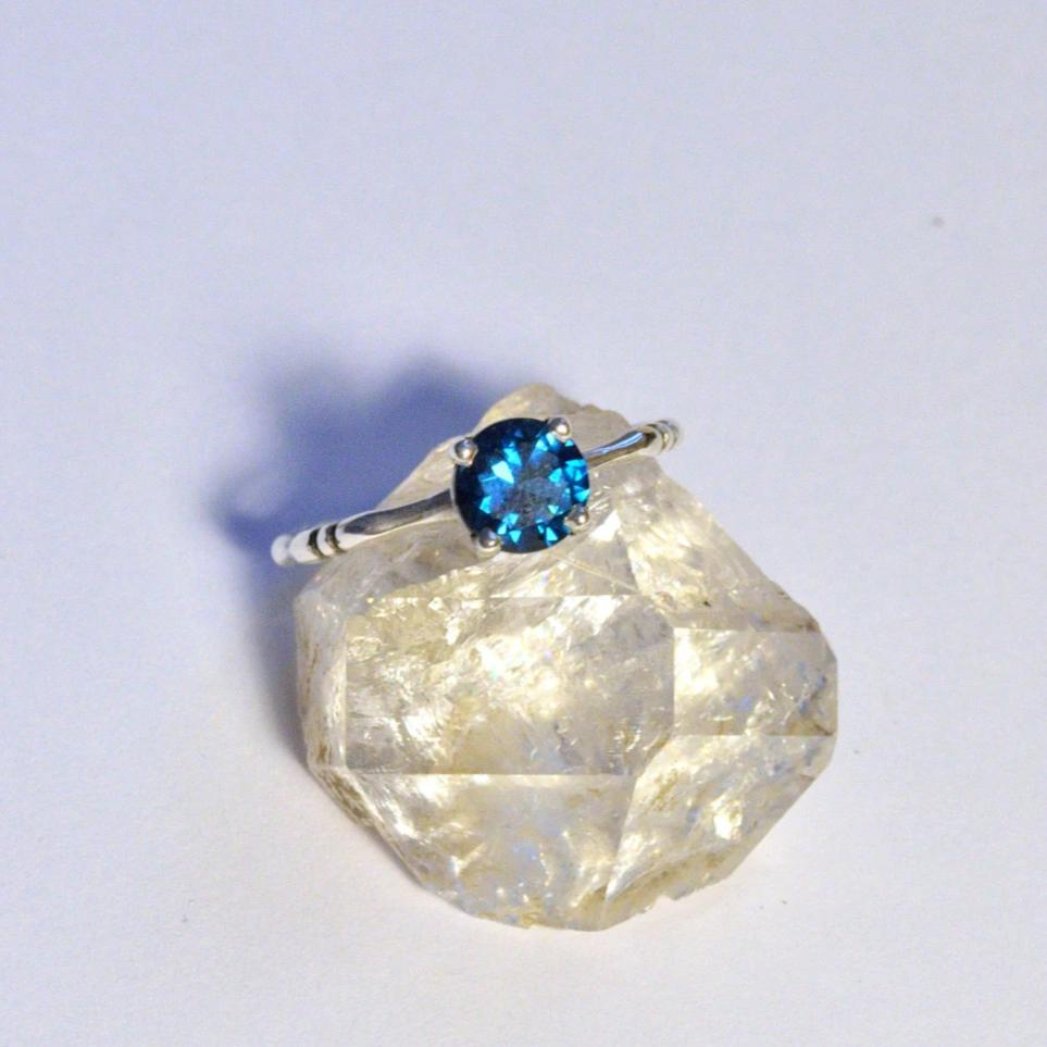 London Blue Topaz Bone Ring