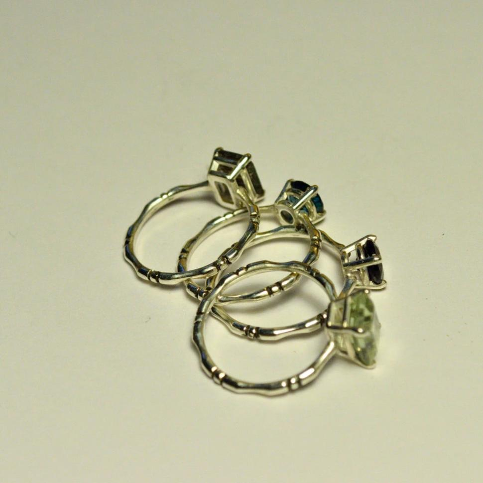 Tourmaline in Quartz Bone Ring