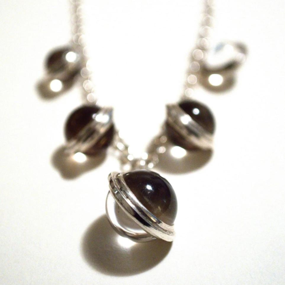 Pools of Light graduated sphere necklace