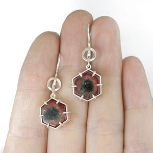 Watermelon Tourmaline Globe Dangles