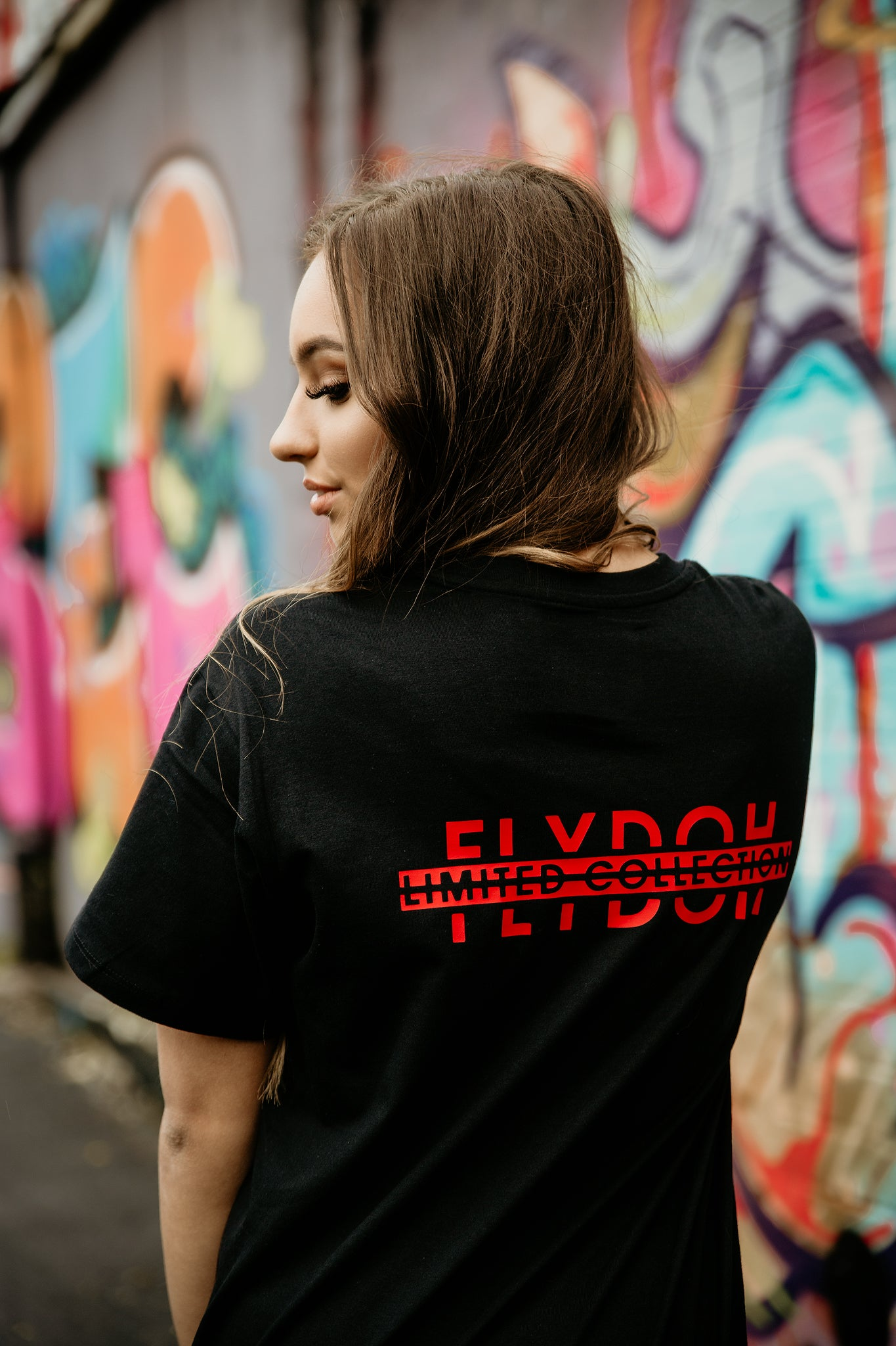 FLYDOH Red Brush Print Tee