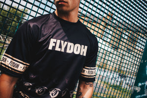 Flydoh Black & Gold Retro Tee - FLYDOH