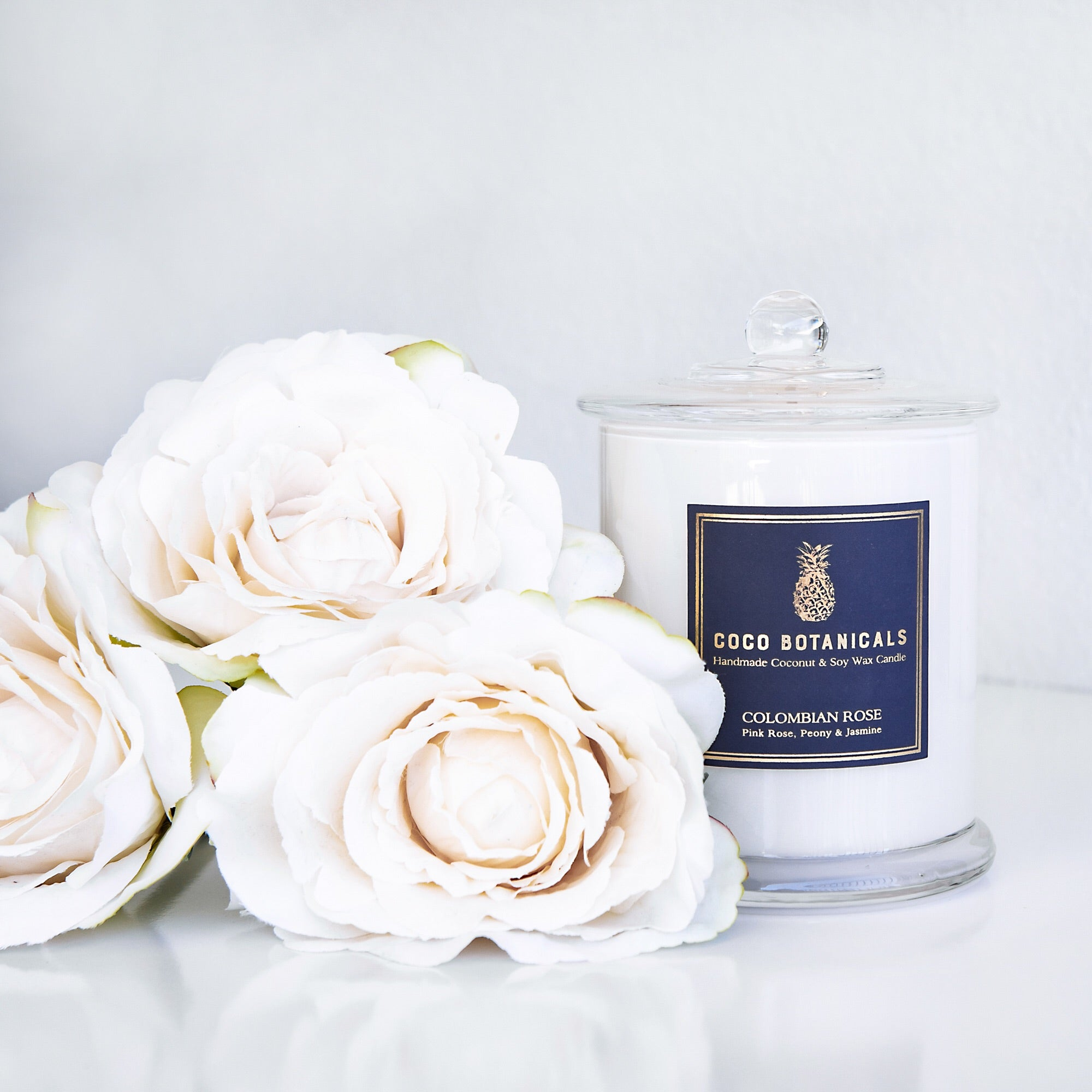 Coco Botanicals Candle - Colombian Rose